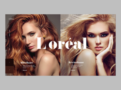 Loréal web design concept screen ux ui desktop loreal