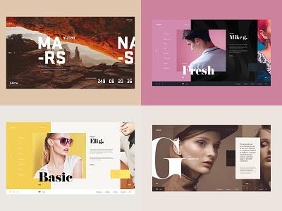 Top4Shots - 2018 interaction illustration fashion design desktop concept ui