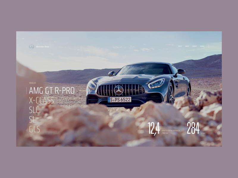 Mercedes Benz - A0.1 minimal layout interaction design web design ux screen desktop concept ui
