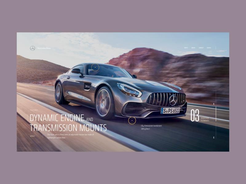 Mercedes Benz - A0.2 minimal layout interaction web design ux desktop concept ui