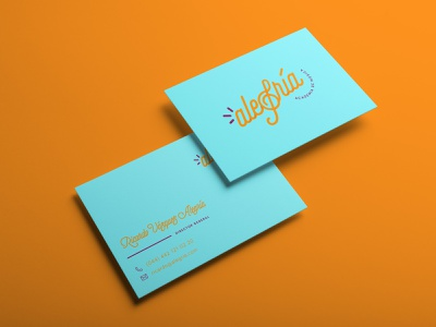Alegría Business Cards business card music logo branding logo brand identity