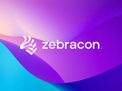 zebracon®️ simple vask logodesign symbol animal zebra creative colors design graphic design minimal app web brand icon ux vector ui illustration logo
