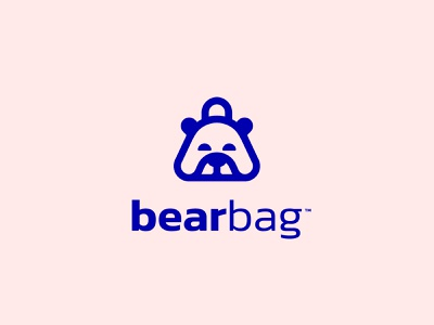 BearBag™ illustration minimal monoline monogram animal simplicity concept bag bear simple branding mark icon ui ux graphic  design symbol design brand logo