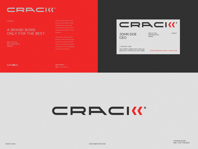 CRACK®️ automotive business card branding simple car motor concept logomark typeface logotype brand ux ui mark logo design graphic  design typography illustration vector logo