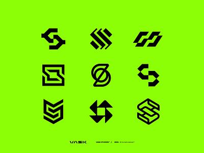 S exploration startup modern logomark logo designs concept collection monograms s simple monogram minimal symbol branding mark icon vector ux ui brand logo