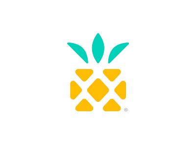Pineapplebox®️ minimalist simple mark nature logo logo design startup box pineapple concept symbol minimal icon branding illustration vector logomark brand logo