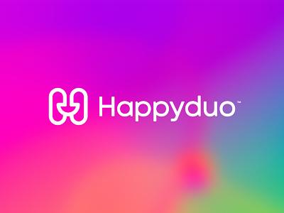 Happyduo™ colorful minimalist simple mark logo design startup smile letter concept symbol minimal icon branding illustration vector logomark brand logo