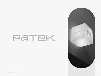 PATEK® company new york simple software minimalist agency startup symbol minimal logomark tech concept logotype typography vector mark logo design branding brand logo