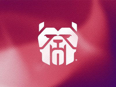 Bullformer® bulldog concept startup icon modern symbol futuristic minimalist simple animal logo dog engineering illustration vector logomark mark logo design branding brand logo
