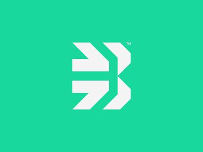 Beyond™ Logo design futuristic startup green visual letter b arrow simple symbol minimalist vector illustration logomark mark logo design branding brand logo