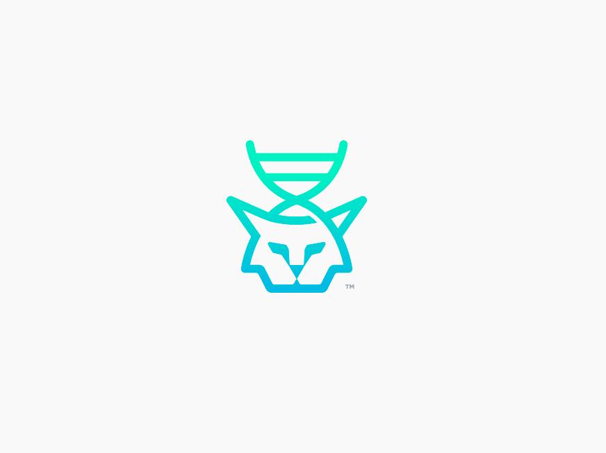 Linx biotechnology biotech bio feline 99designs logomarks logomark logo logotype dna linx
