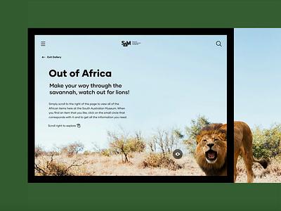 South Australian Museum — Collections collections savannah africa wildlife ipad museum nature website digital ui custom ux design
