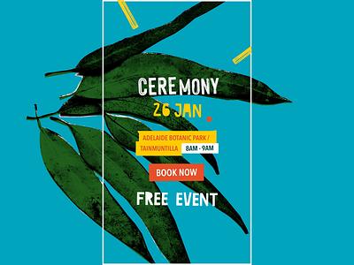 Australia Day Art — Smoking Ceremony digital campaign branding social facebook instagram social network social media design social media custom design