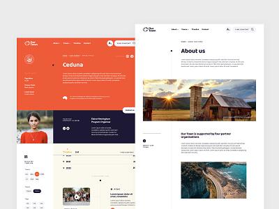 Our Town Website website typography ui ux digital custom design