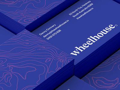 Wheelhouse Business Cards varnish business card print logo branding typography