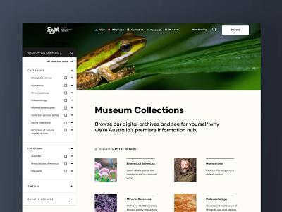 South Australian Museum digital branding typography icons design custom ux ui