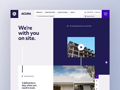 Acura Website retail digital design ux custom ui