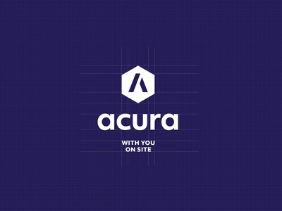 Acura Branding supplier building construction logo vector branding typography design