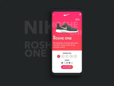 Nike App UI