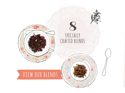 Tea Blends tea website illustration pattern
