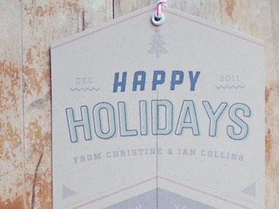 Holiday Card, 2011 card kraft typography print diy papercraft twine