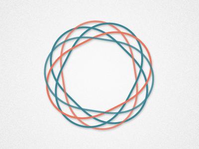 Simple Icon icon guilloche circle blue orange