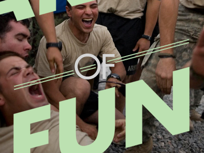 An Army Of Fun thebigcaption futura typography