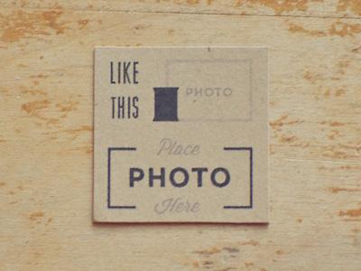 Photo Stand Instructions instructions illustration typography kraft print