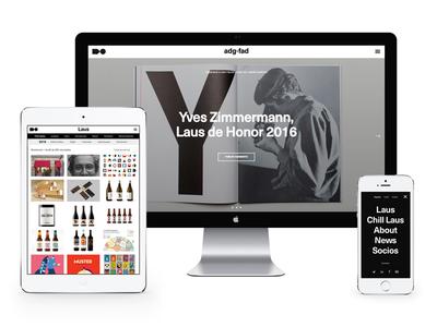 Graphic Designers Association of Spain black and white graphic design ui design website