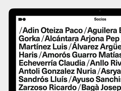ADG Members ui website black and white minimal typography