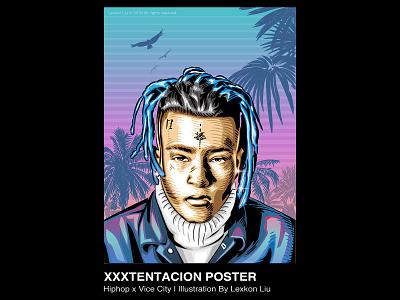 XXXTentacion typography 品牌化 street poster art rapper vector illustration 平面设计 adobe illustrator draw