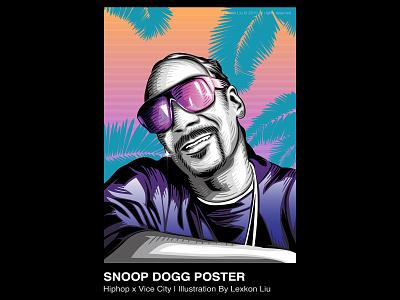 Snoop Dogg vector hiphop poster art rapper 平面设计 品牌化 street illustration adobe illustrator draw