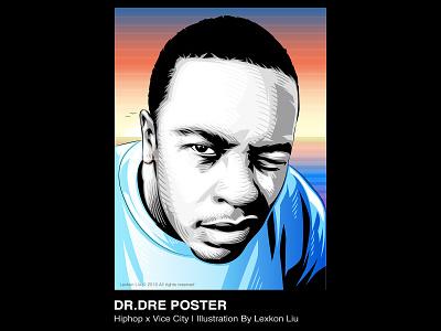 Dr.Dre rapper poster art vector 平面设计 品牌化 street illustration adobe illustrator draw