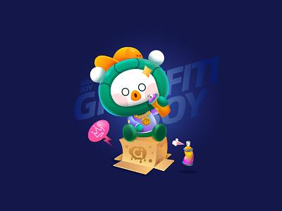 POPColour #潮流有色计划 mascot cartoonstyle colourful vector 平面设计 品牌化 street illustration adobe illustrator draw