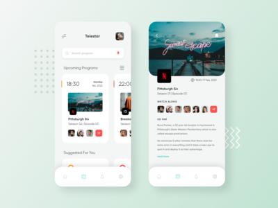 Telestar App UI | Mob UI