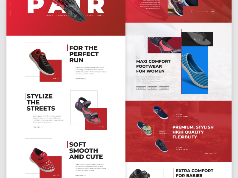 Shoe store web UI | Landing page by