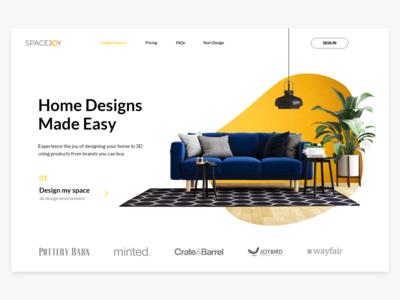 Spacejoy - Interior Design Landing Page UI