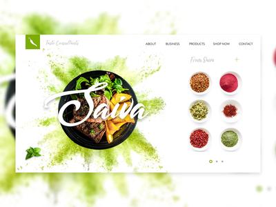 Saiva Web UI   Landing Page