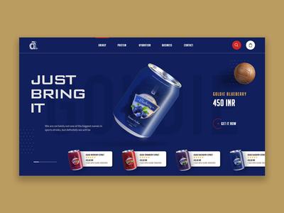 Energy Drink Web UI | Landing Page