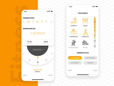 Fitness App UI   Mobile UI   App UI