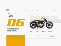 Deei Barbara D6 - Motorcycle Web UI   Landing Page
