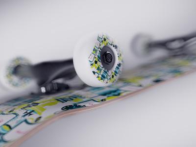 Skateboard Render