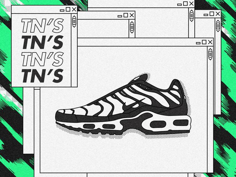 Nike TN. tn nike tn vector sneakers nike design graphicdesign illustrator illustration 2d