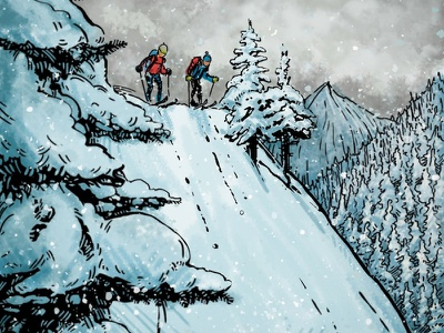 Backcounrty Skiers skiing skis mountains weather snow