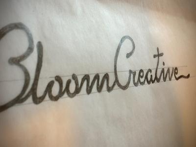 Bloom logo - sketch