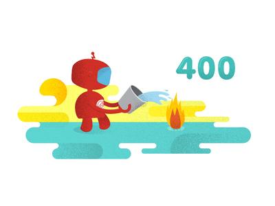400 error illustration for Sauce Labls ps design sauce labs branding graphic design ux ui web design 400 error illustrations error page