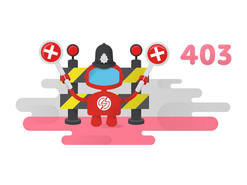 403 Error Illustration for Sauce Labs ps design sauce labs branding graphic design ux ui web design 403 error illustrations error page