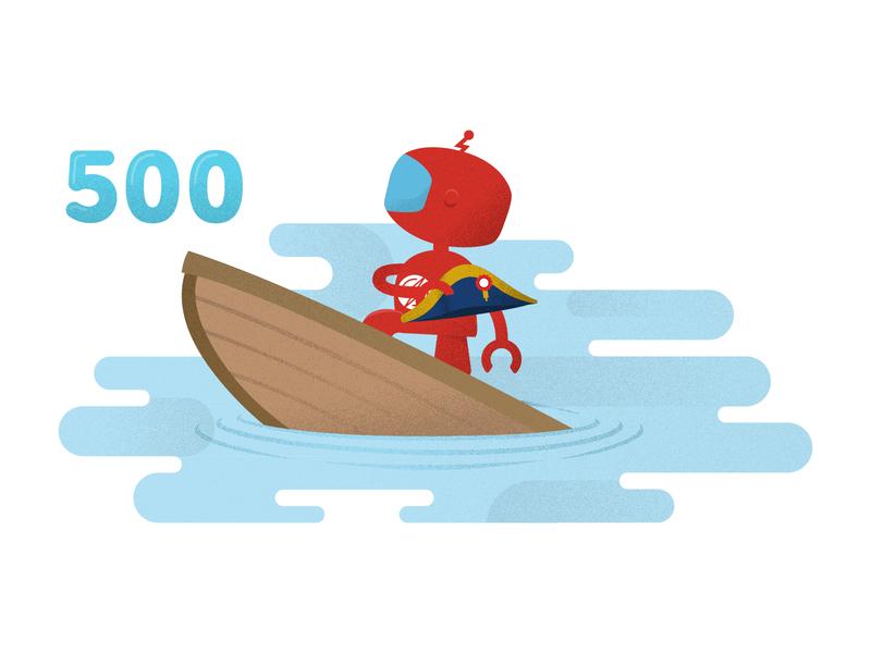 500 Error Illustration for Sauce Labs 500 error ps design sauce labs branding graphic design ux ui web design illustrations error page