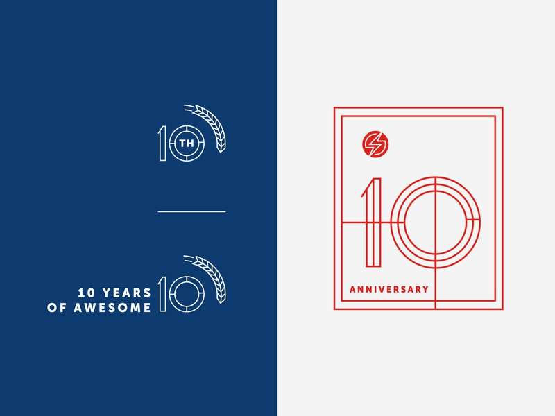 Sauce 10th Anniversary Secondary Marks brand agency ps design graphic design logo design logo brand identity design branding anniversary sauce labs