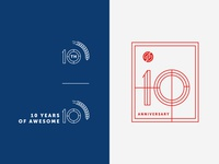 Sauce 10th Anniversary Secondary Marks brand agency ps design graphic design logo design logo brand identity design branding anniversary sauce labs